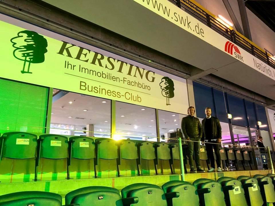 Kersting-Immobilien wird -im Spielbetrieb des KEV- Namensgeber im Business-Club des Königpalast!